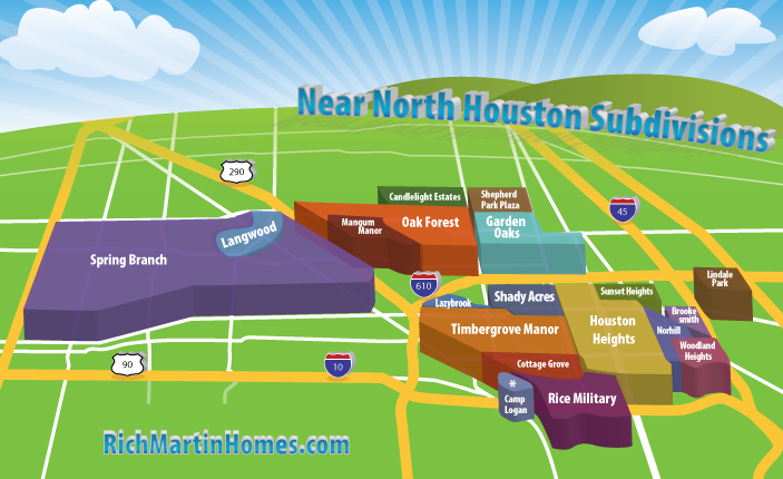 Near North Houston Subdivisions