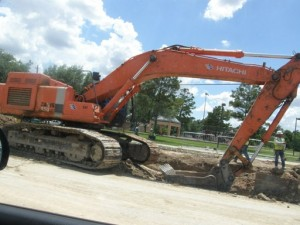 Heavy equipment havoc on Fulton and N Main Streets