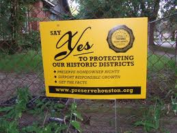 Houston Historic Preservation Signs Abound!