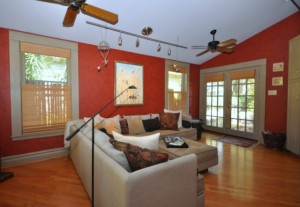Family room of Houston Heights home for sale