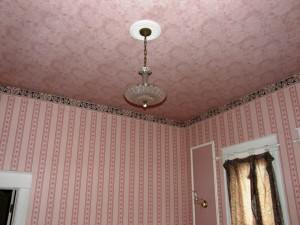 Original old house with wall-papered ceilings