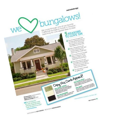 Heights Bungalows - In HGTV Magazine