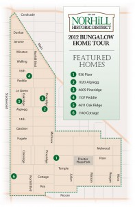 Norhill Home Tour 2012-Map
