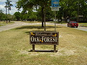 Oak Forest Welcome Sign