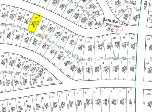 Garden Oaks Lot-HCAD Map