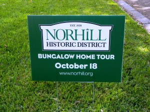 Norhill Bungalow Tour Sign