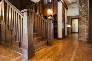 Oak trim in this Contemporary Craftsmen home