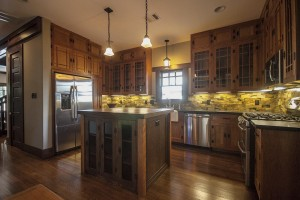 Amazing oak trim and cabinets