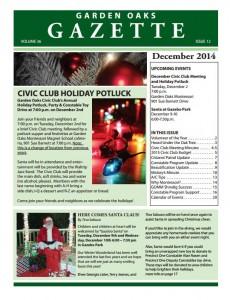 December Garden Oaks Gazette