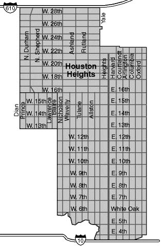 Houston Heights boundaries