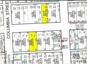 Two Sunset Heights Lots for sale-map