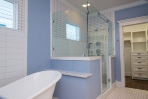 Houston Heights new home-master bath