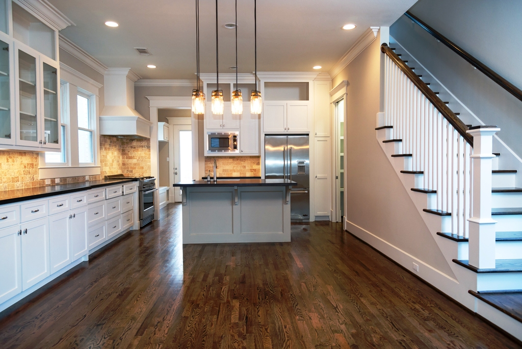 Kitchen Of Houston Heights New Homes 212 W 24th St