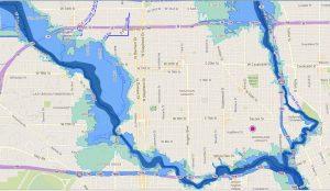 Heights flood plain map