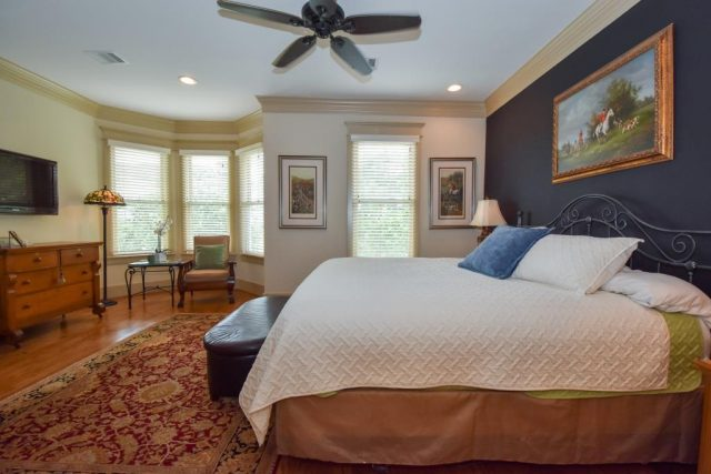 Master suite of Heights home