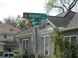 Heights Historic District Sign