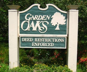 Garden Oaks Homes-Deed Restricted