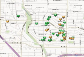 Map of Oak Forest New Homes
