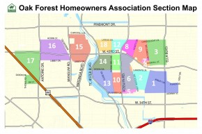 Oak Forest Section Map